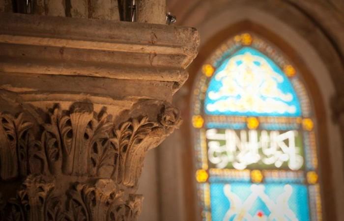 Détail d'un chapiteau dans la salle du Cénacle ©Marie-Armelle Beaulieu / CTS