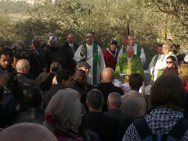 El padre Shomali y Mons. Michel Sabbah
