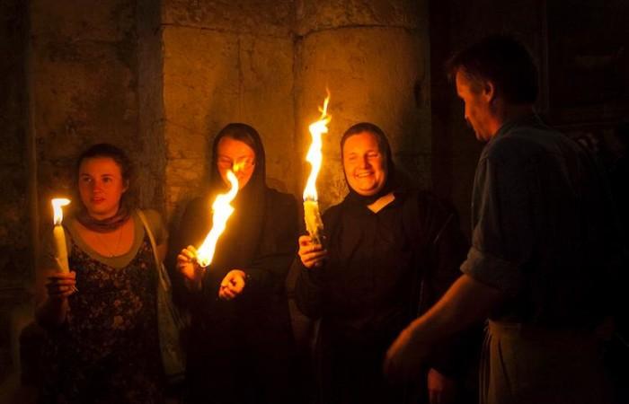 Les pèlerins viennent de partout dans le monde orthodoxe pour assister à la cérémonie. ©M.-A. Beaulieu/CTS