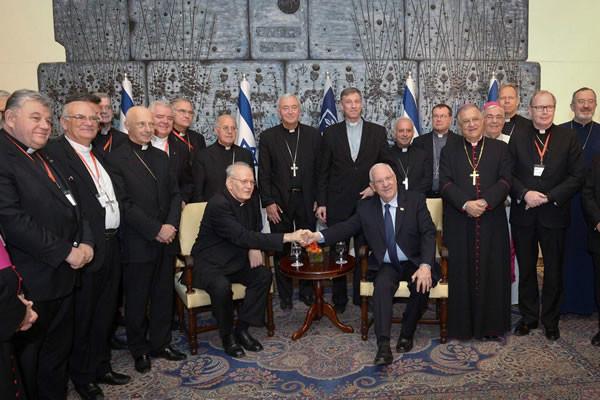 Les évêques européens reçus par les présidents israélien et palestinien
