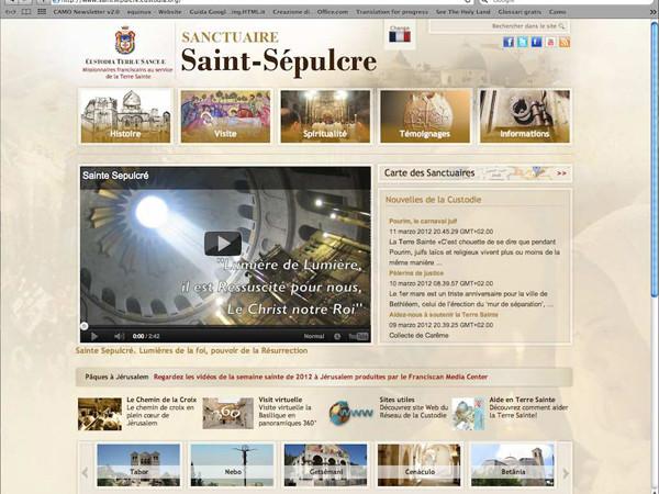 Un nouveau site internet pour découvrir le Saint Sépulcre