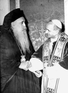 Paul VI et Athenagoras, les fruits de oecuménisme en Terre Sainte
