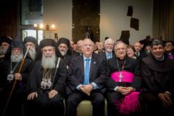 Reuven Rivlin et les chefs religieux chrétiens, un engagement commun pour la paix