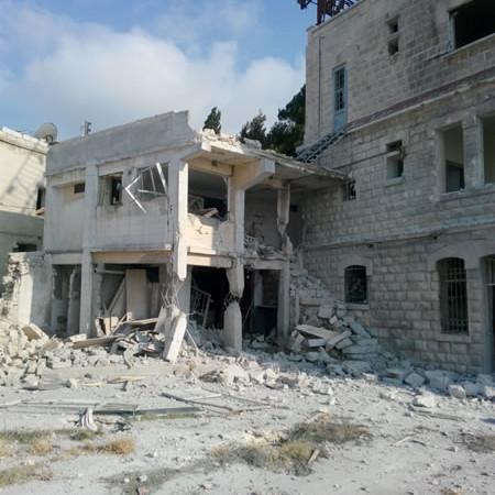 Le couvent a été touché par un missile tiré d'un avion dans la soirée du 20 Juillet.