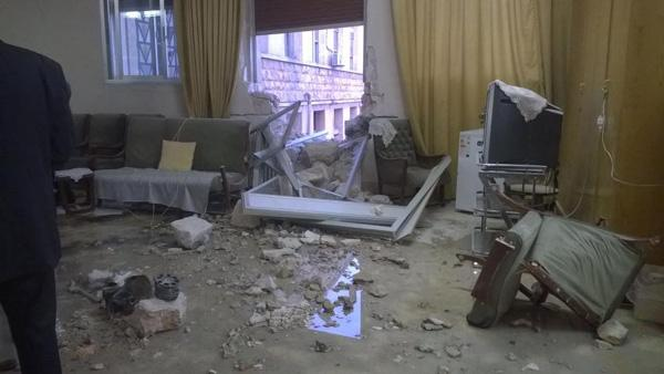 Le collège de Terre Sainte d'Alep touché par un missile