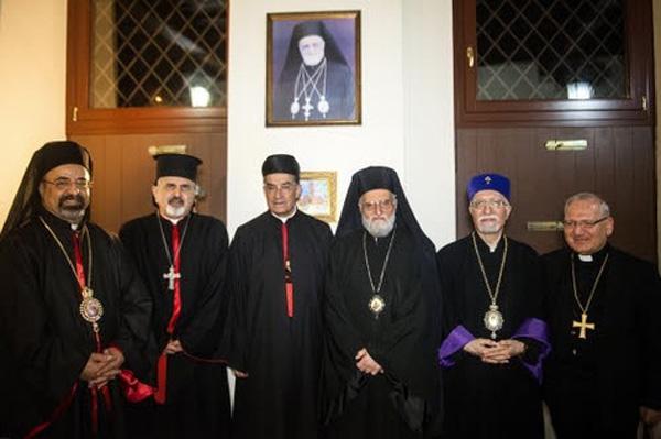 Les Patriarches orientaux catholiques présents autour du Pape en Terre Sainte