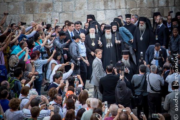 Arrivée à Jérusalem du Patriarche de Constantinople