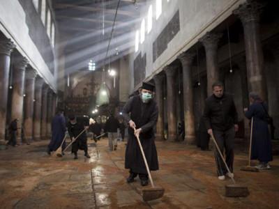 Basilique de la Nativité, nettoyage fatal