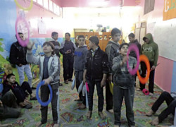 Bande de Gaza, le cirque pour «thérapie»