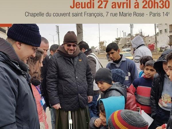Frère Ibrahim, curé latin d'Alep, en conférence à Paris