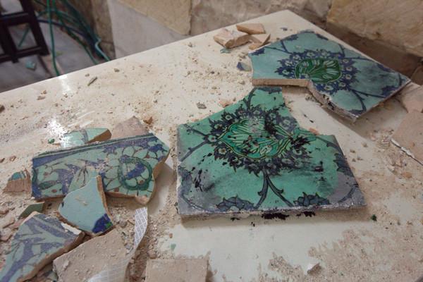 Dégâts irréversibles sur les céramiques © photo M-A. Beaulieu/CTS