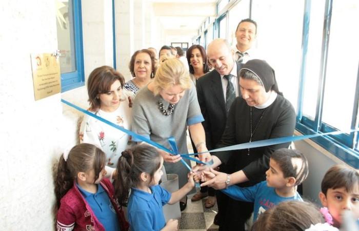 Inauguration d'une aire de jeu pour une école de Bethléem, réalisée avec l'aide de Polish Aid  ©Pmp