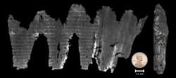 La plus vieille version du Lévitique déroulée en 3D