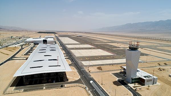 Vue de l'aéroport international Ramon dans la vallée de Timna au sud d'Israël (mai 2018) © Moshe Shai/Flash90