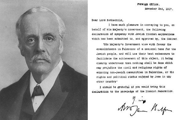 100 après la déclaration de Balfour trainée en justice ?
