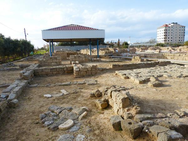 Vue générale du monastère Saint Hilarion à Nusseirat (Bande de Gaza) © CL