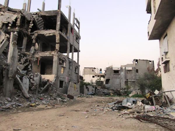 Dévastations dans le quartier de Shajaiya, à Gaza City, cliché de janvier 2015 (Photos de C. Cruciati)