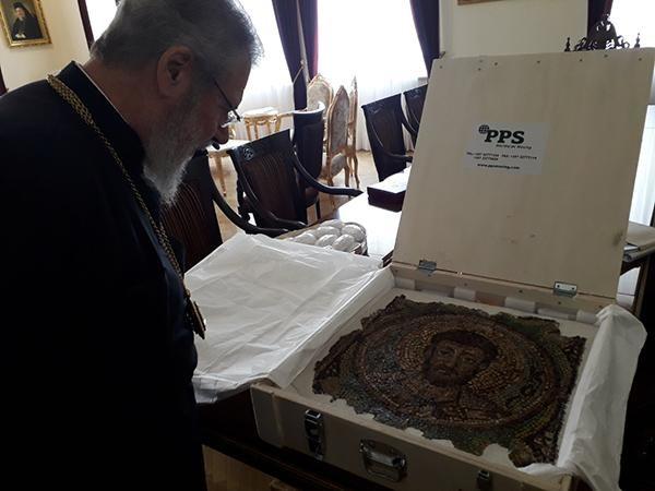 Chypre récupère une mosaïque de St Marc, volée il y a 40 ans