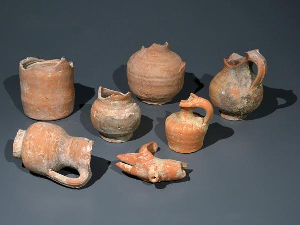 Les poteries utilisées par les habitants à l'époque byzantine. ©Clara Amit/Autorité des Antiquités d'Israël