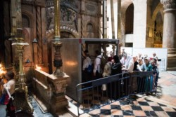 Les travaux au Saint-Sépulcre maintenant visibles