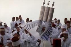 Réapparition d'une page d'une Torah samaritaine du XIVe s.