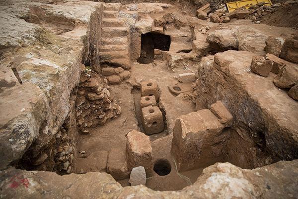Vue d'un ancien pressoir à olives sur le site de fouilles archéologiques dans le quartier de Sharafat à Jérusalem © Hadas Parush/Flash90