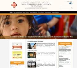L'Ordre du Saint Sépulcre se dote d'un nouveau site internet