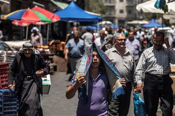 Territoires palestiniens, les données démographiques de 2013