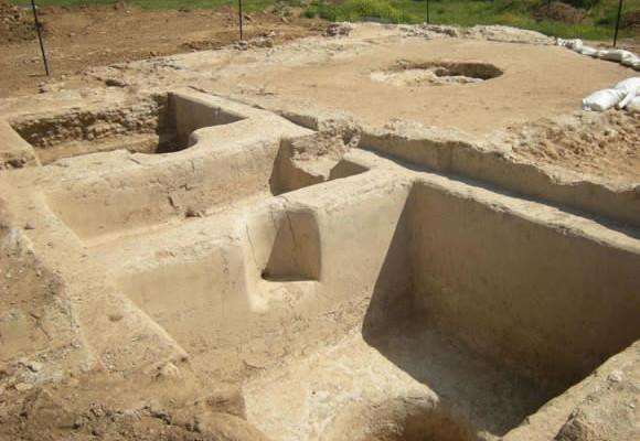 Les fouilles archéologiques du pressoir non loin d'Ashkelon. (Photo © S. Ganor/IAA)