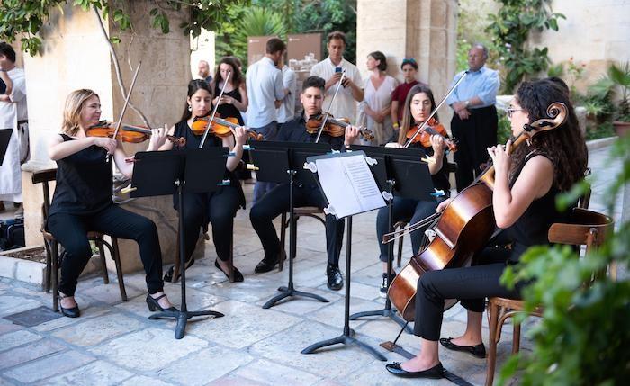 Interlude musical des étudiants de l'Institut Magnificat. ©Nadim Asfour/CTS