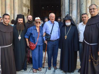 Visite du roi belge Albert au Saint-Sépulcre