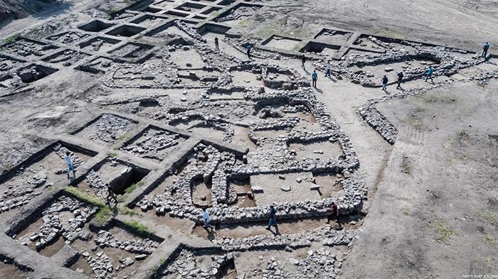 Photo aérienne du site de fouilles. ©Assaf Peretz, Autorité des antiquités d'Israël