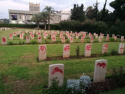 Profanation du cimetière militaire britannique à Haïfa