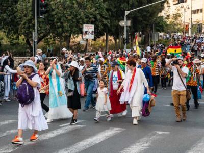 Souccot : des milliers de Chrétiens sionistes défilent à Jérusalem