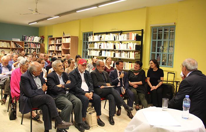 Des représentants du Consulat général de France sont venus écouter Afif Shafieh, à Jérusalem, le 9 novembre 2019. ©Institut Français