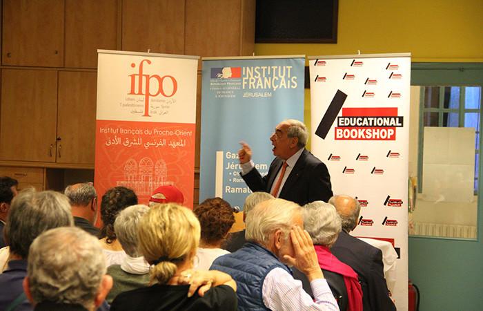 Afif Safieh, lors de la conférence organisée à l'Institut français Chateaubriand à Jérusalem, le 9 novembre 2019. ©Institut Français