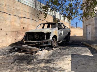 Acte de vandalisme à Taybeh perpétré par des colons