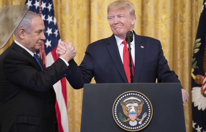 Le président Trump et le Premier ministre israélien Netanyahu le 28 janvier 2020 à la Maison Blanche. ©Shealah Craighead Maison Blanche