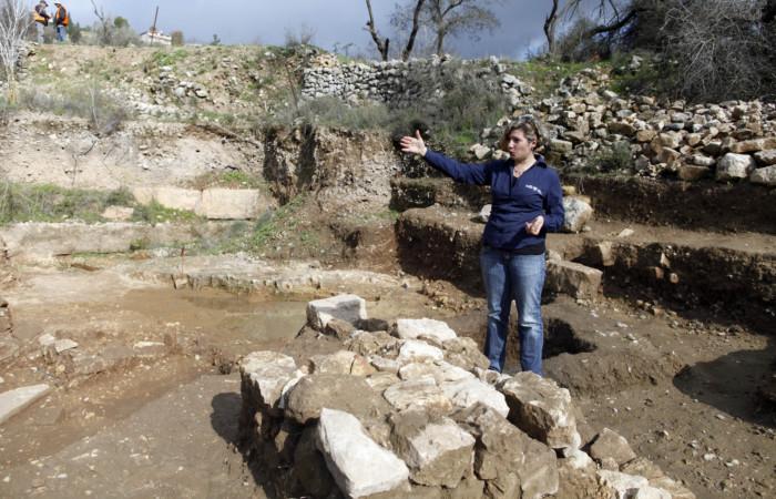 Vue générale du site de fouilles de Tel Motza, 26 décembre 2012. ©FLASH90