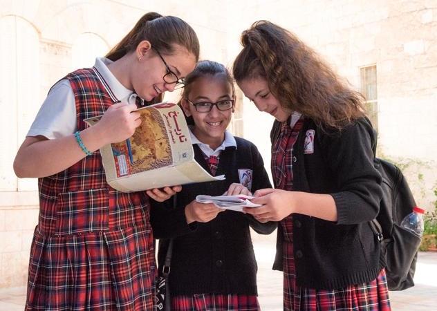Des élèves de l'école St-Joseph, à Jérusalem. ©T.S Girls School