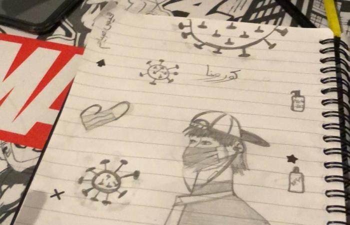 Les élèves de l'école Saint-Joseph postent leurs dessins du confinement sur la page Facebook de l'école ©T.S Girls School