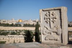 La vraie Croix pour bénir Jérusalem et le monde depuis le Mont des Oliviers