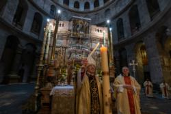 Vigile de Pâques au Saint-Sépulcre 11 avril 2020