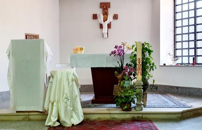 Intérieur de l'église Saint Jean-Baptiste, Acre ©Fr. Toufic Bou Merhi ofm.