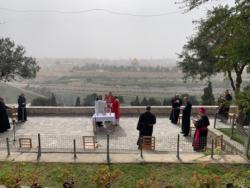 Prière en temps d'épidémie depuis le Mont des Oliviers