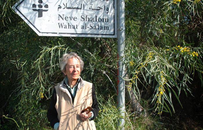 Anne le Meignen en 2011 confondatrice de  Nevé shalom/Wahat as Salam © Zia Zeff -
