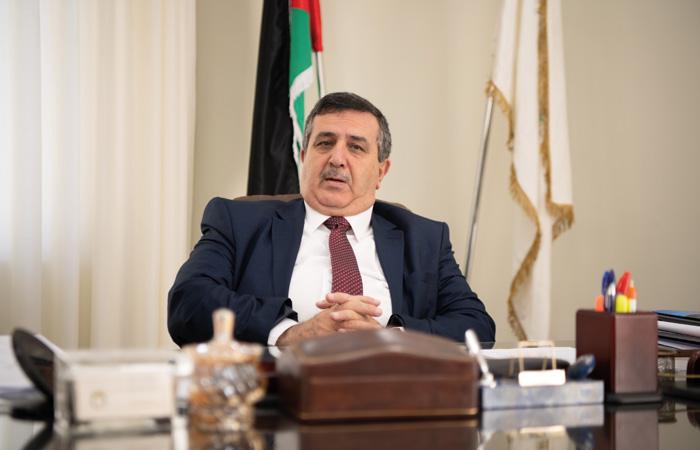 Anton Salman, maire de Bethléem dans son bureau. ©Nadim Asfour/CTS