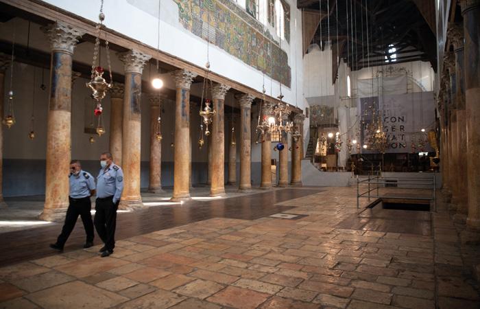 La nef de la basilique de la Nativité demeure vide depuis le mois de mars dernier ©Nadim Asfour/CTS