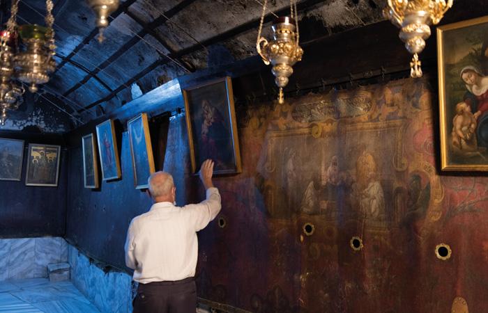 Dans la grotte de la Nativité, seuls les chrétiens palestiniens viennent encore prier ©Nadim Asfour/CTS