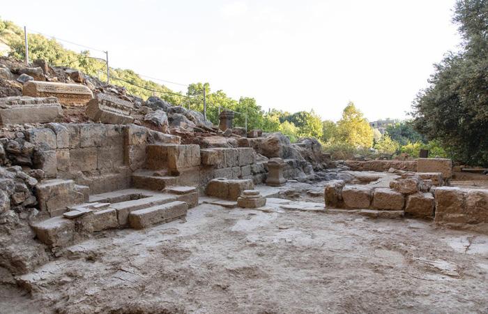 L'église byzantine datant d'environ 400 ans après J.-C., mise au jour dans la réserve naturelle de Panéas. © Yaniv Cohen/Israel Nature & Parks Authority/ Banias